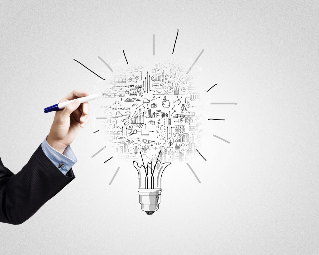 drawing of light bulb