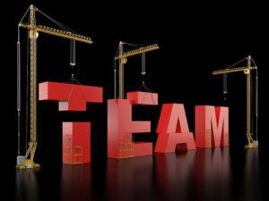 """Word """"team"""" being built"""